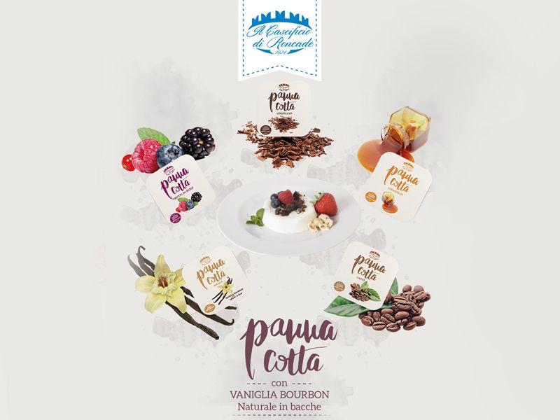 Offerta vendita e distribuzione panna cotta freschissima a Treviso e provincia