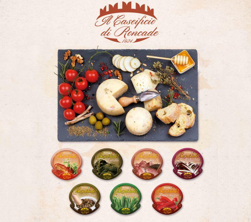 Offerta vendita e distribuzione caciotte speziate nostrane a Treviso - Caseificio di Roncade