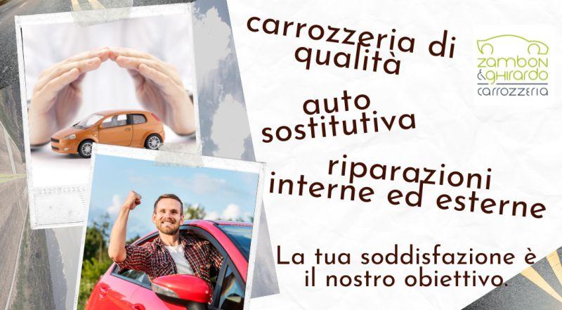 Occasione carrozzeria con servizio di auto sostitutiva a Treviso – Offerta carrozzeria con servizio riparazione auto danneggiata da sinistri atti vandalici e grandine a Treviso