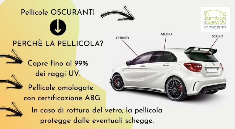 Offerta istallazione di pellicole oscuranti su auto a Treviso – occasione pellicole per auto che proteggono dai raggi UV a Treviso