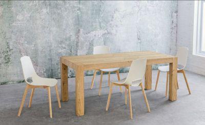 tavolo estensibile in rovere naturale