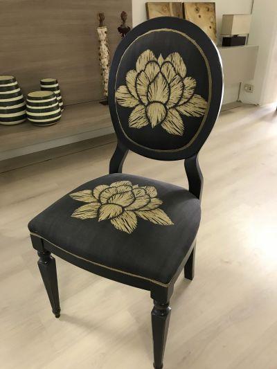 sedia ovalina legno classico senza braccioli