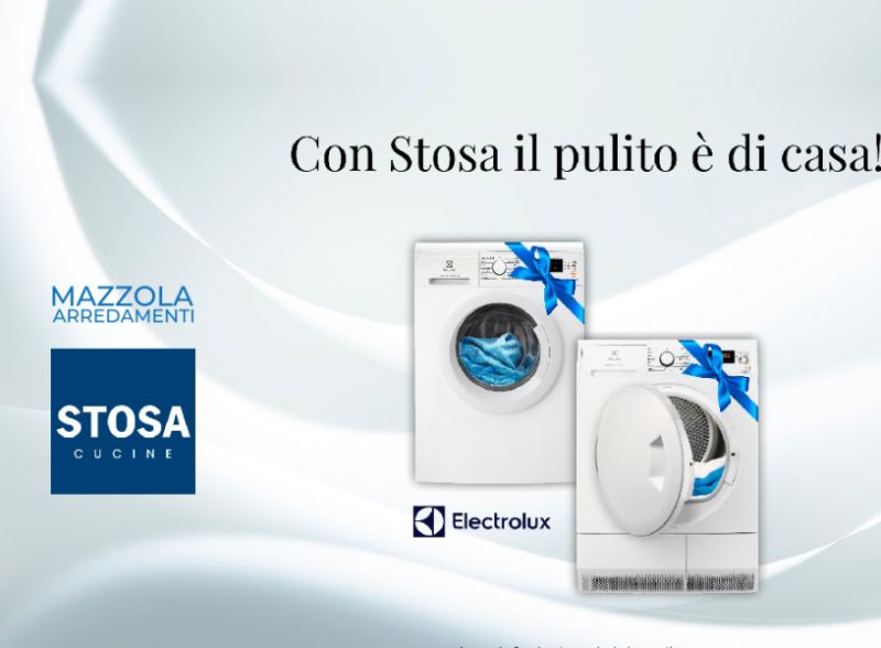 MAZZOLA ARREDAMENTI offerte cucine stosa gratis lavatrice asciugatrice electrolux garanzia 5 anni