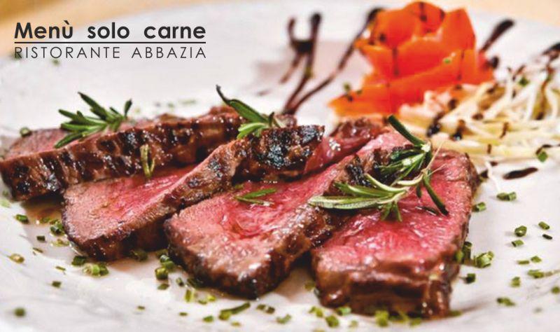 ABBAZIA RISTORANTE PIZZERIA offerta menu di carne - promozione tagliata di manzo alla robespierre