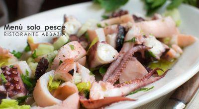 abbazia ristorante pizzeria offerta menu di pesce promozione specialita di branzino farcito