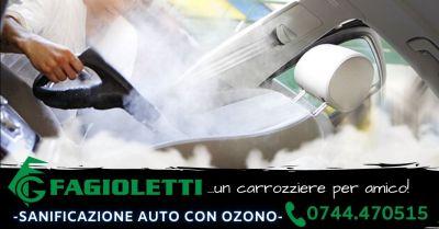 offerta servizio professionale sanificazione auto con ozono terni occasione igienizzazione auto terni