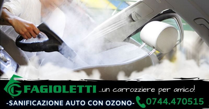 Offerta servizio professionale sanificazione auto con Ozono Terni - Occasione igienizzazione auto Terni