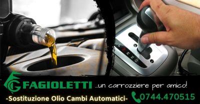 offerta sostituzione olio cambio automatico terni occasione servizio cambio olio cambio automatico terni