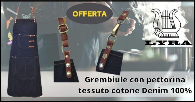 offerta grembiuli cucina in pelle con pettorina Toscana - promozione Abbigliamento Chef