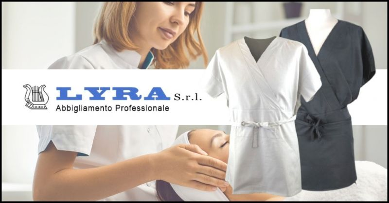 promozione casacca abbigliamento modello SPA e centri Wellness - LYRA SRL
