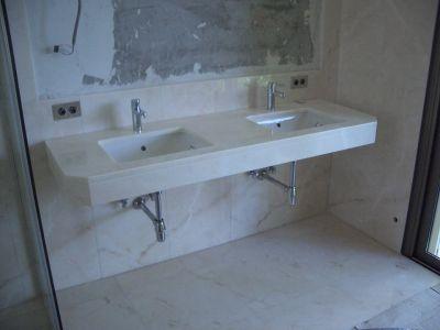 sala da bagno in marmo sanremo imperia
