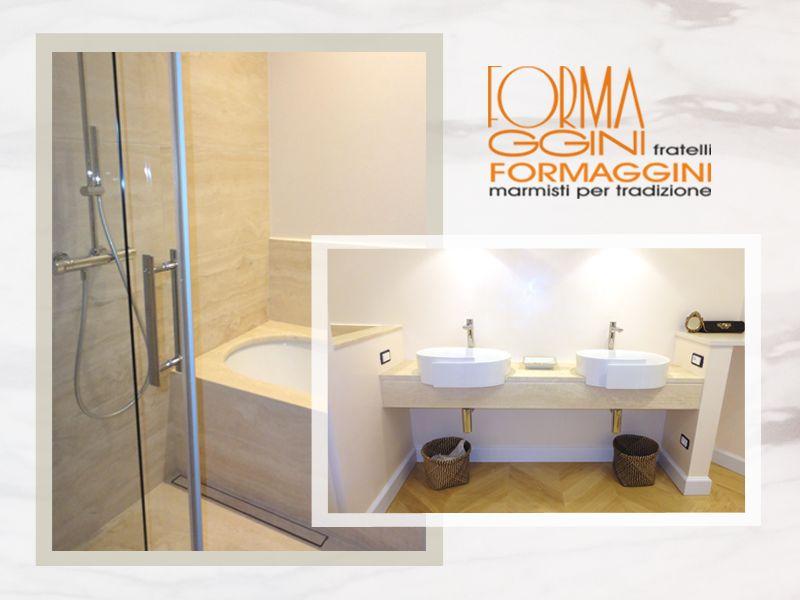 offerta rivestimento doccia marmo - promozione rivestimento travertino romano -formaggini marmi