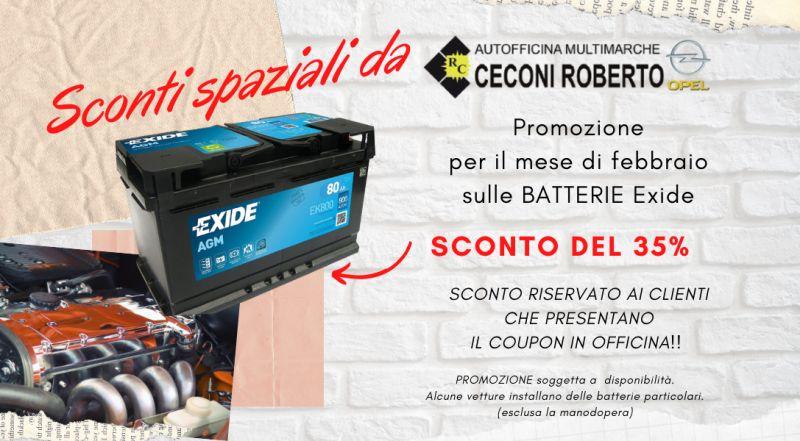 Vendita batteria auto scontata Exide a Udine – Offerta officina sostituzione batteria auto scontata a Udine