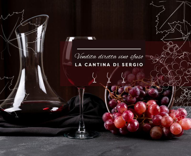 LA CANTINA DI SERGIO offerta vendita diretta vino alla spina – promozione vino sfuso economico