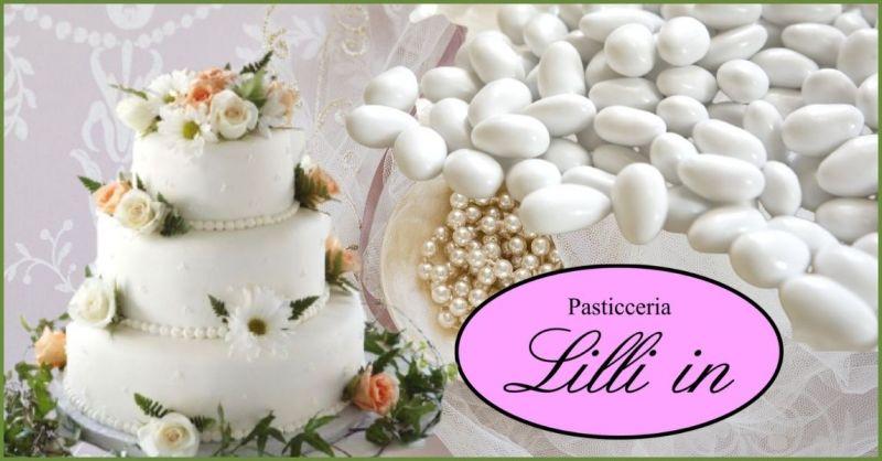promozione torte nunziali eleganti e originali Pisa - offerta torte matrimonio e confetti Pisa