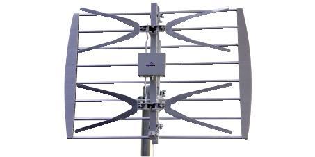antenna tv mini pannello uhf banda iv v premontata