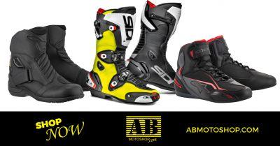 ab moto shop offerta vendita calzature per motociclisti civitanova marche