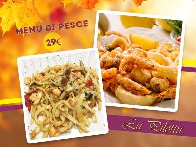 offerta menu di mare promozione cucina di pesce ristorante lu pilottu