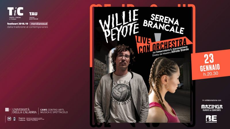 Cosenza concerto willie peyote serena brancale auditorium unical