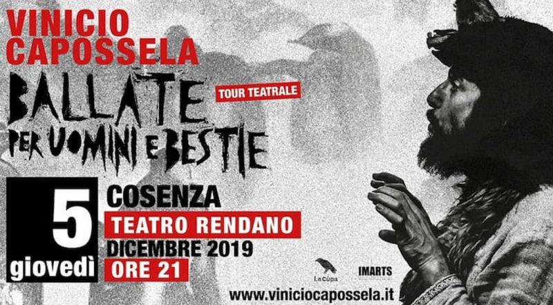 Offerta concerto Vinicio Capossela Cosenza