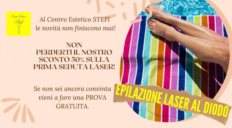 OCCASIONE epilazione laser al diodo in promozione a Treviso – Offerta depilazione definitiva alle gambe in offerta a Treviso