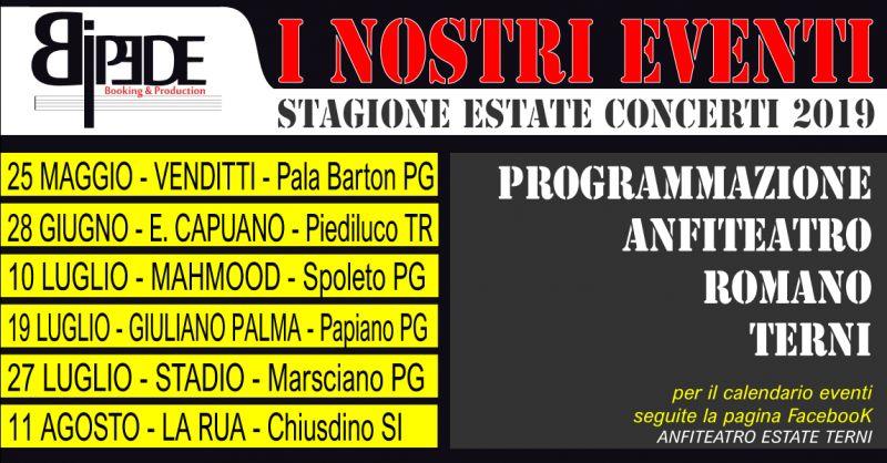 OFFERTA PROGRAMMAZIONE EVENTI E MUSICA 2019 - OCCASIONE CONCERTI E SPETTACOLI ESTATE 2019