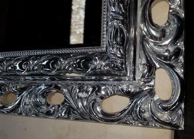 f c p offerta specchiera argento lucido promozione cornice specchio silver