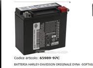batteria harley davidson originale 65989 97c