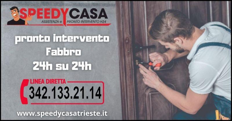 promozione fabbro pronto intervento serrature Trieste - SPEEDYCASA