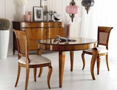 offerta credenza due ante intarsiate ciliegio occasione tavolo ovale allungabile ciliegio