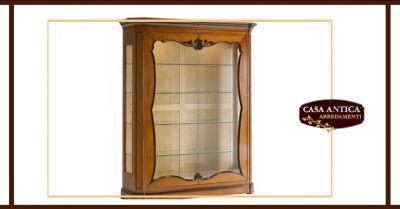 offerta vendita vetrina in legno intagliata catania occasione cristalliera a due ante catania