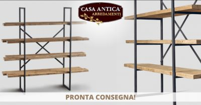 offerta vendita libreria industrial catania occasione libreria moderna ferro e legno catania
