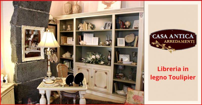 offerta vendita libreria in toulipier catania - occasione libreria avorio legno catania