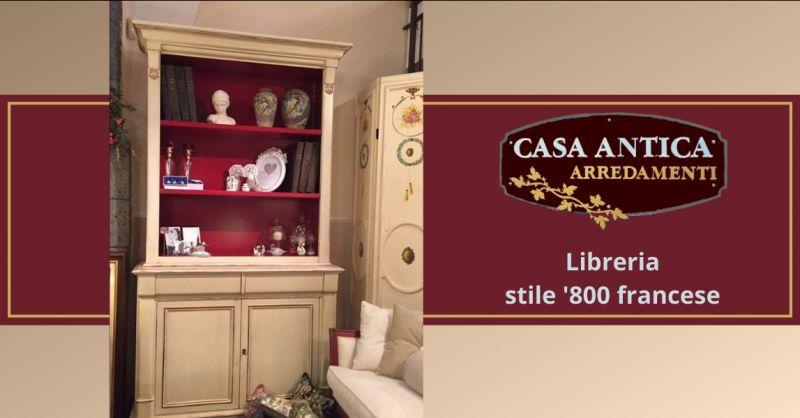 offerta libreria legno chiaro in stile antico - occasione libreria stile francese ottocento
