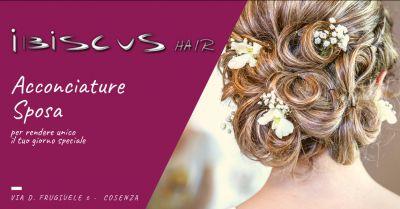 ibiscus hair occasione acconciatura da sposa cosenza offerta acconciature originali cosenza