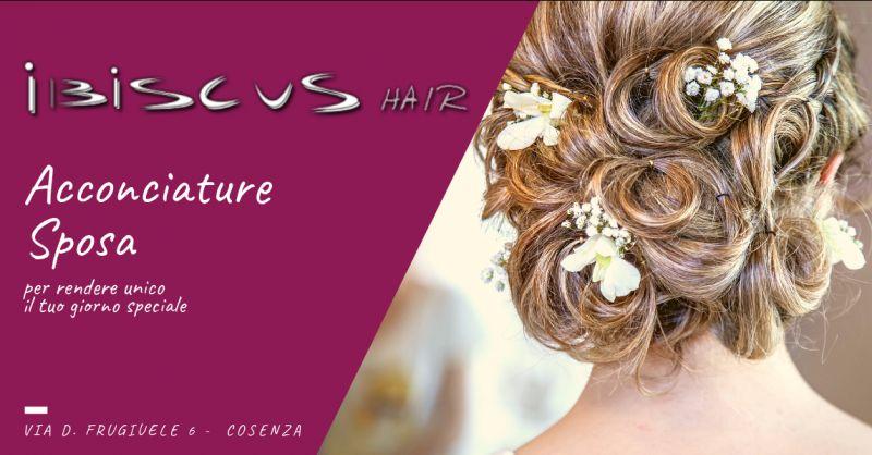 Ibiscus hair occasione acconciatura da sposa cosenza - offerta acconciature originali cosenza