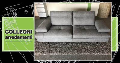 offerta divano toby in tessuto sfoderabile bergamo occasione divano con spalliere e braccioli traslanti
