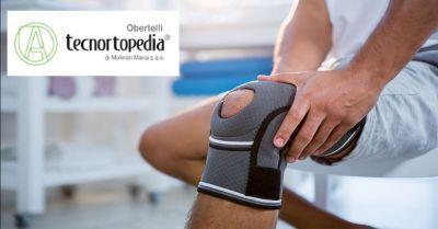 tecnortopedia obertelli offerta vendita ginocchiere e cavigliere occasione tutori ortopedici