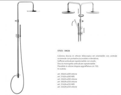 colonna doccia calflex stick tonda