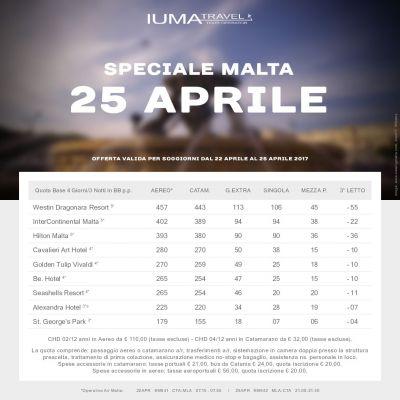25 aprile a malta