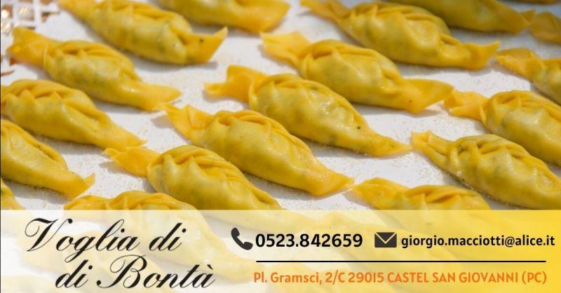 Offerta vendita tortelli piacentini artigianali - Occasione tortelli piacentini con la coda provincia Piacenza