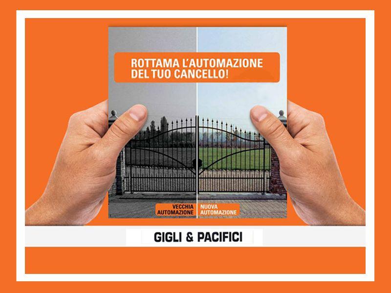 offerta automazione cancello promozione rottamazione cancello faac gigli e pacifici