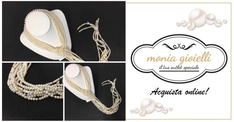 Monia Gioielli Assemini Outlet - offerta collana di perle e oro vendita online