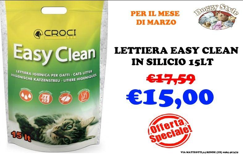 offerta Lettiera Easy clean in Silicio 15 litri cosenza - offerta easy clean lettiera cosenza