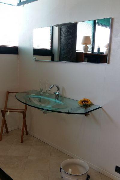 offerta lavabo bagno promozione lavabo in cristallo edil ceramiche beretta bergamo