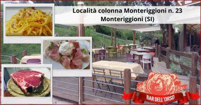 offerta trattoria all aperto prodotti gastronomici locali siena e provincia bar dell orso