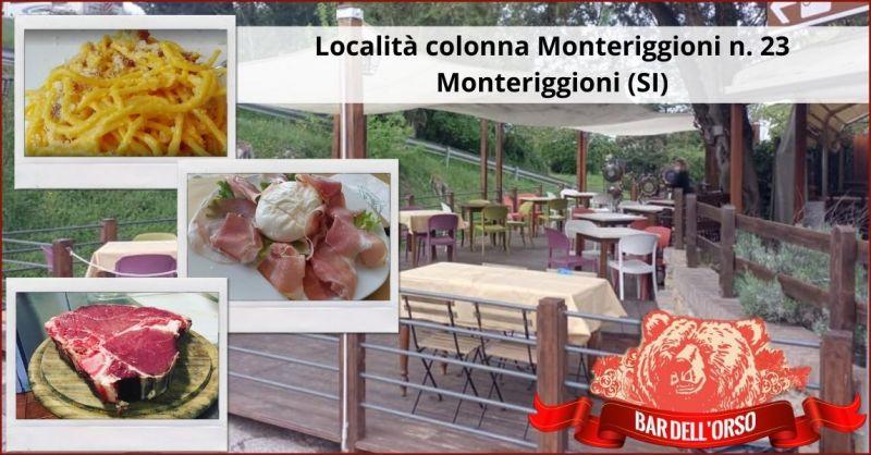 offerta trattoria all aperto prodotti gastronomici locali Siena e provincia - BAR DELL ORSO