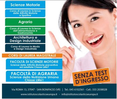 offerta universita on line promozione universita telematica senza test ingesso verona vicenza