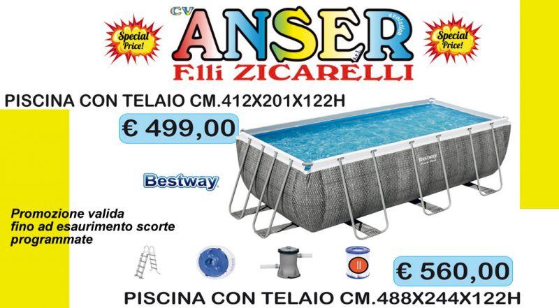 Offerta piscina fuori terra con telaio Cosenza - Promozione piscina fuori terra bestway Cosenza