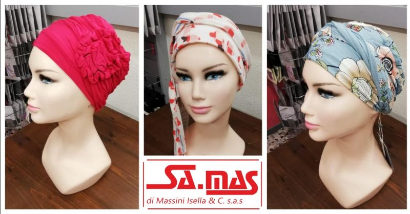 SA.MAS offerta foulard e copricapo per chemioterapia - occasione turbanti per capelli Piacenza